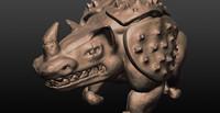 3d animal pig model