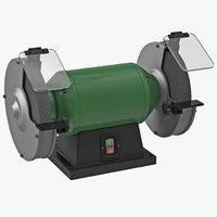 3d model of bench grinder