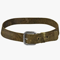 3d model medieval leather belt