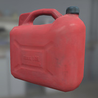 3d plastic gasoline canister model