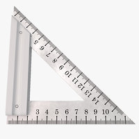 maya steel triangle ruler
