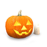 halloween decorations jack-o-lantern 3d model