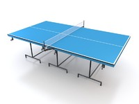 3d table tennis model
