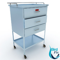 medical supply cart 3d model