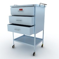 3d medical supply cart model