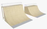 skate ramp 3d max
