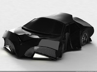 fantastic car capricorn 3d model
