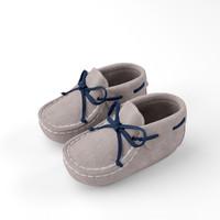 newborn bootie 3d model