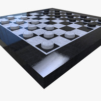 3d fbx checkers set
