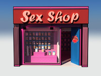 3d cartoon sex shop model