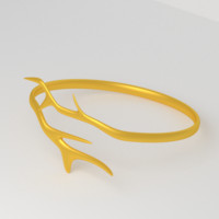 free modern golden ring branches 3d model