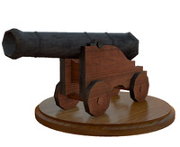 3d model cast iron naval cannon