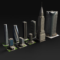 3d model skyscraper mori tower