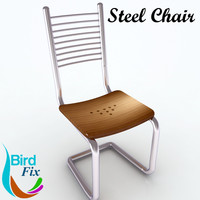 steel chair 3d max