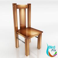 wood chair 3d max