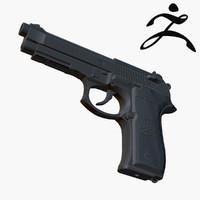 beretta 92fs m9 3d model