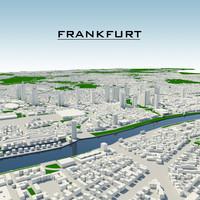 3ds max frankfurt cityscape