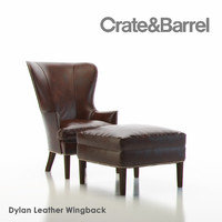 3d model dylan wingback leather
