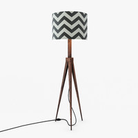 max slate chevron floor lamp