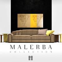 3d model sofa malerba