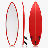 realistic surfboard 3ds
