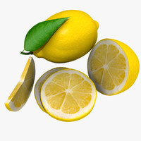 3d model lemon mix