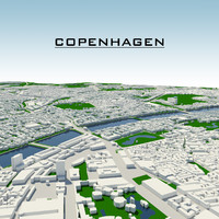 3d copenhagen cityscape