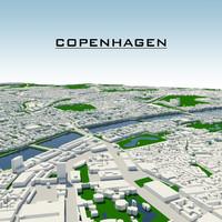 copenhagen cityscape 3d model