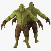 3ds max green orc 2