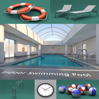 indoor swimming pool 3d c4d