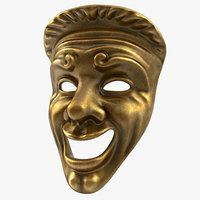 theatre comedy mask 3d max
