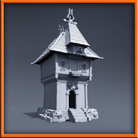 3d medieval style house model