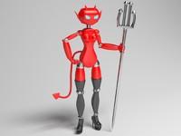 robot devil 3d max