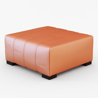pelle papaya pouf 3d model