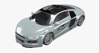 3d model audi r8 custom car