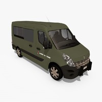 renault master iii army 3d model