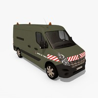 3d renault master iii army model