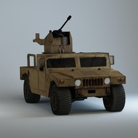 hummer h1 military 3d max
