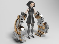 3ds max robot fist