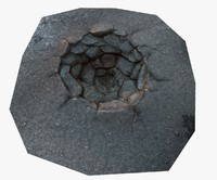 asphalt crater 3d model