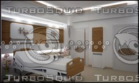 3d model hospital room interior design