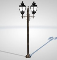 modeled streetlight light 3d model