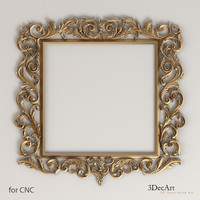 3d model decorative frame baroque style