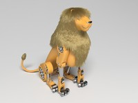 mechanical robot lion 3d max