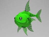 mechanical robot fish 3d max