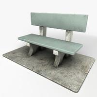 3d stone chair
