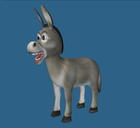 cartoon donkey 3d obj