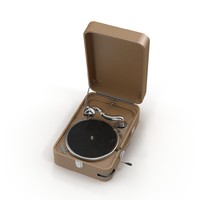3d portable gramophone model