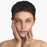 jane realistic female woman 3d max