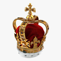 3d st edwards crown fur model